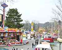 Amusement park at Prague Fairground