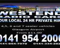 Westend Radio CARS 0141 954 2000 airport from £11.00